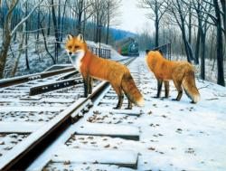 Fox Tracks Forest Family Puzzle