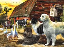 Farm Gathering Farm Animals Jigsaw Puzzle