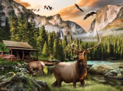 Elk Country - Scratch and Dent Animals Jigsaw Puzzle