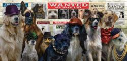 The Usual Suspects Dogs Panoramic Puzzle