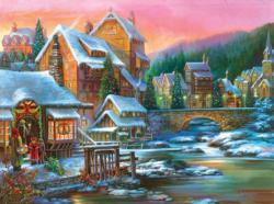 Village Visit Christmas Jigsaw Puzzle