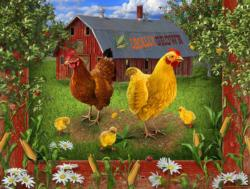 Locally grown Chickens & Roosters Jigsaw Puzzle