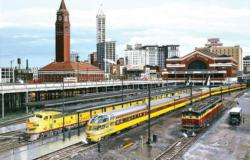 Seattle Trains Jigsaw Puzzle