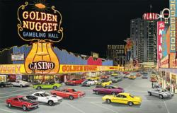 Cruise Night at  Glitter  Gultch Nostalgic / Retro Jigsaw Puzzle