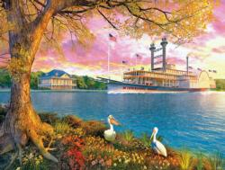 Mississippi Queen Landscape Jigsaw Puzzle