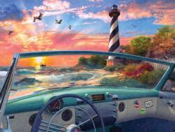 Cape Hatteras Drive Seascape / Coastal Living Jigsaw Puzzle