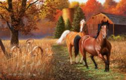 Out for a Run Horses Jigsaw Puzzle