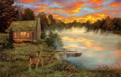Couples Retreat Cottage / Cabin Large Piece