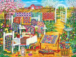 Garden Quilting Garden Jigsaw Puzzle