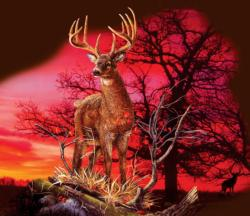 Red Sunset Animals Jigsaw Puzzle