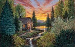 Mountain Music Sunrise / Sunset Jigsaw Puzzle