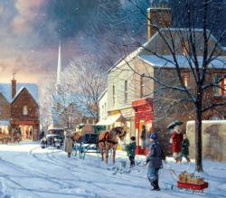 Street Scene Winter Jigsaw Puzzle