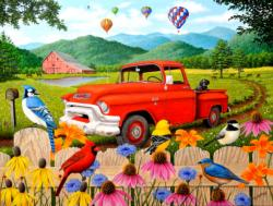 The Red Truck Balloons Jigsaw Puzzle