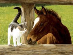 Whiskery Hello Horses Jigsaw Puzzle