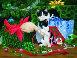 Christmas Party Kittens Jigsaw Puzzle