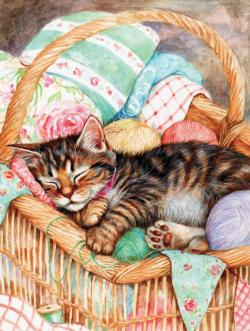 A Soft Place to Rest Kittens Jigsaw Puzzle