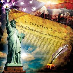 The Declaration of Independence Statue of Liberty Jigsaw Puzzle