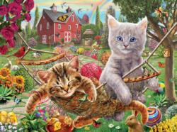 Cats on the Farm Garden Jigsaw Puzzle