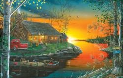 Autumn Glow Sunrise / Sunset Jigsaw Puzzle