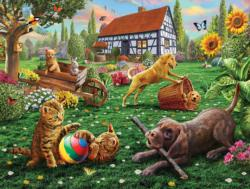 Dogs and Cats at Play Dogs Jigsaw Puzzle
