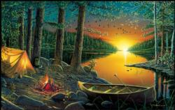 Evening by the Lake Sunrise / Sunset Jigsaw Puzzle