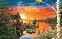 Autumn Evening Sunrise / Sunset Jigsaw Puzzle