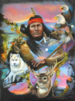Many Journeys Native American Jigsaw Puzzle