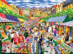A Day at the Marketplace Shopping Jigsaw Puzzle