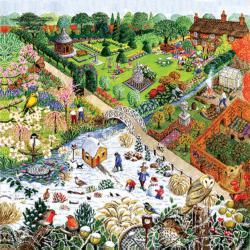 Four Seasons Garden Collage Jigsaw Puzzle
