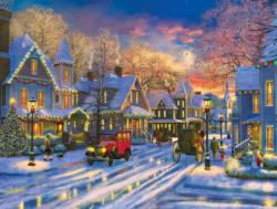 Small Town Holiday Christmas Jigsaw Puzzle