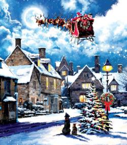 Street Light Christmas Jigsaw Puzzle