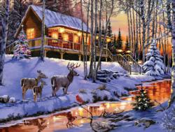 Cabin Light Cottage / Cabin Jigsaw Puzzle