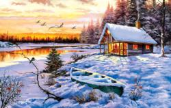 Log Cabin Cottage / Cabin Jigsaw Puzzle