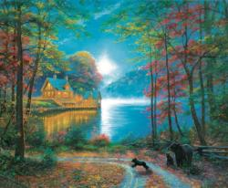 Lakeside Dreams Cottage / Cabin Jigsaw Puzzle