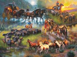 Wagon Trails Horses Jigsaw Puzzle