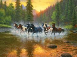 Evening Romp Lakes / Rivers / Streams Jigsaw Puzzle
