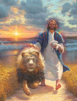 Jesus and the Lamb Jigsaw Puzzle