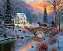 Holiday Homecoming Winter Jigsaw Puzzle