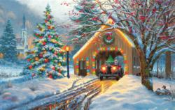 Chirstmas Crossing Winter Jigsaw Puzzle
