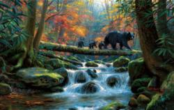 Precarious Crossing Bears Jigsaw Puzzle