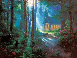 Chapel Visitors Forest Jigsaw Puzzle