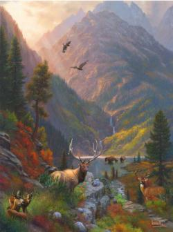 Majestic Solidute Lakes / Rivers / Streams Jigsaw Puzzle