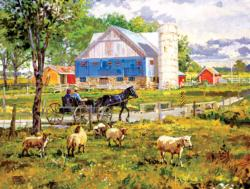 Through the Fields Landscape Jigsaw Puzzle