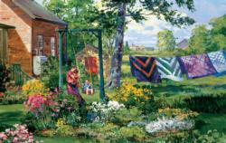 Swinging Domestic Scene Jigsaw Puzzle