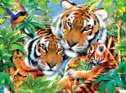 First Born Tigers Jigsaw Puzzle