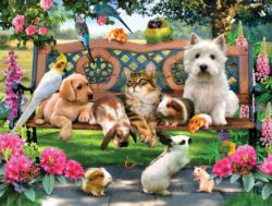 Pets in the Park Other Animals Jigsaw Puzzle