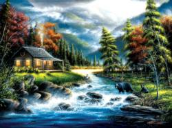 Approaching Cottage / Cabin Jigsaw Puzzle