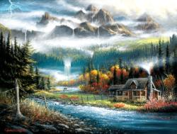 Valley Paradise Lakes / Rivers / Streams Jigsaw Puzzle