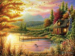 High-Country Cinnamon Sunrise / Sunset Jigsaw Puzzle