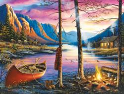Cabin Homecoming Sunrise / Sunset Jigsaw Puzzle